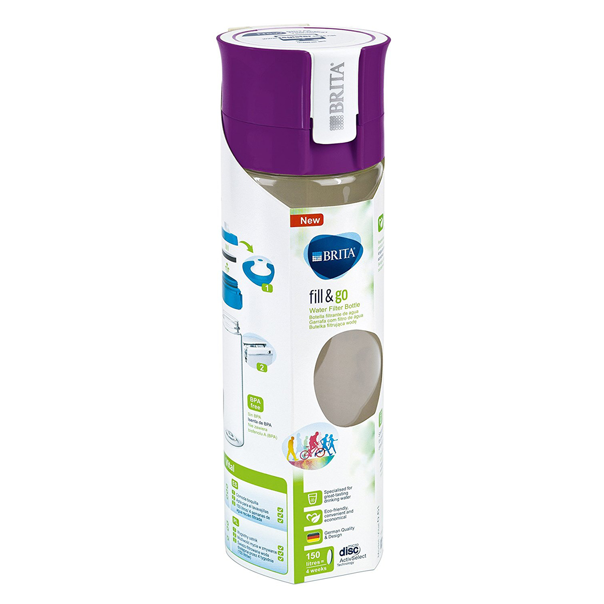 brita fill go wasserfilter flasche vital purple 13655168 reisezubeh r eurapon. Black Bedroom Furniture Sets. Home Design Ideas